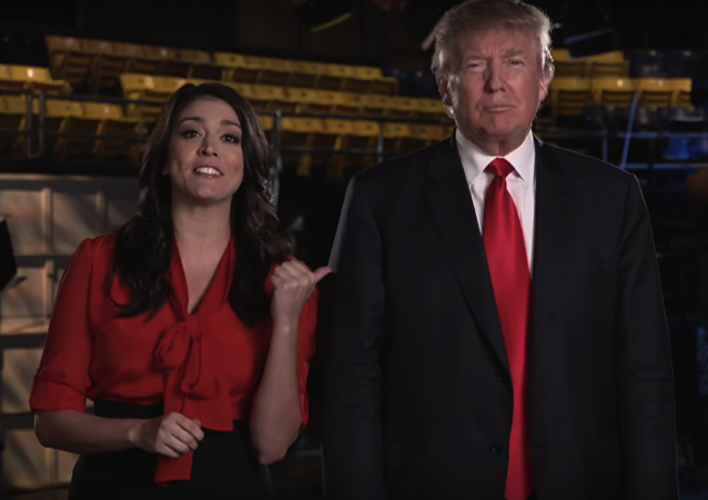 Screenshot from an NBC preview for Saturday Night Live with Donald Trump hosting