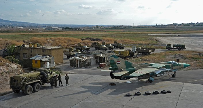 MiG-23 of the Syrian Air Force on air base Hama
