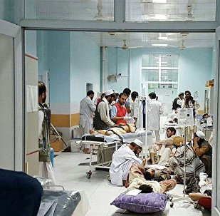 MSF medical personnel treat civilians injured after the US military bombed an Afghan hospital in Kunduz.