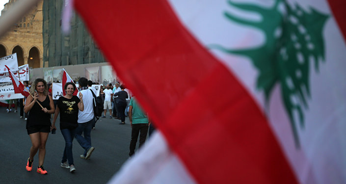 A Lebanese flag