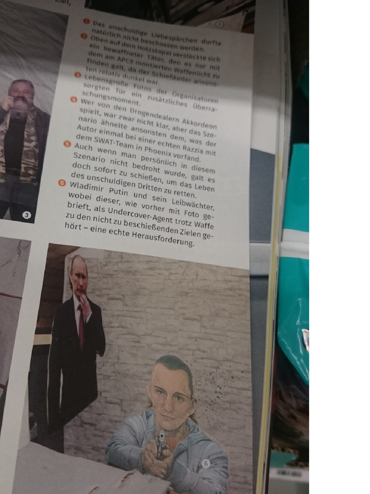 DWJ published a photo depicting figures of President Putin and his bodyguard as targets on a shooting stand