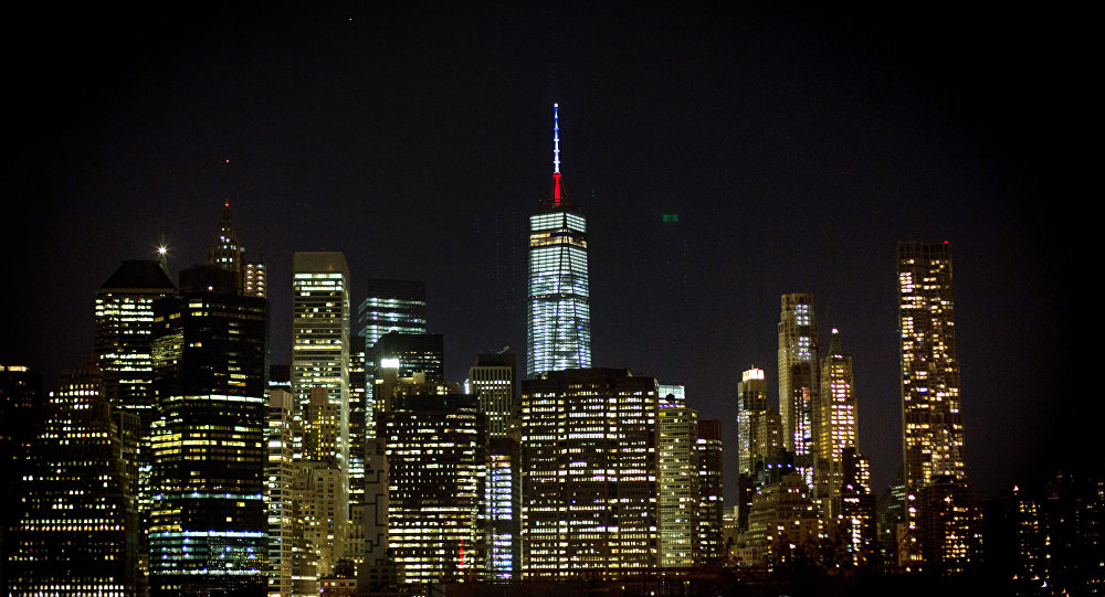 Charming World Trade Center Lights Up In Red, White And Blue To Honor NYC Victims Photo Gallery