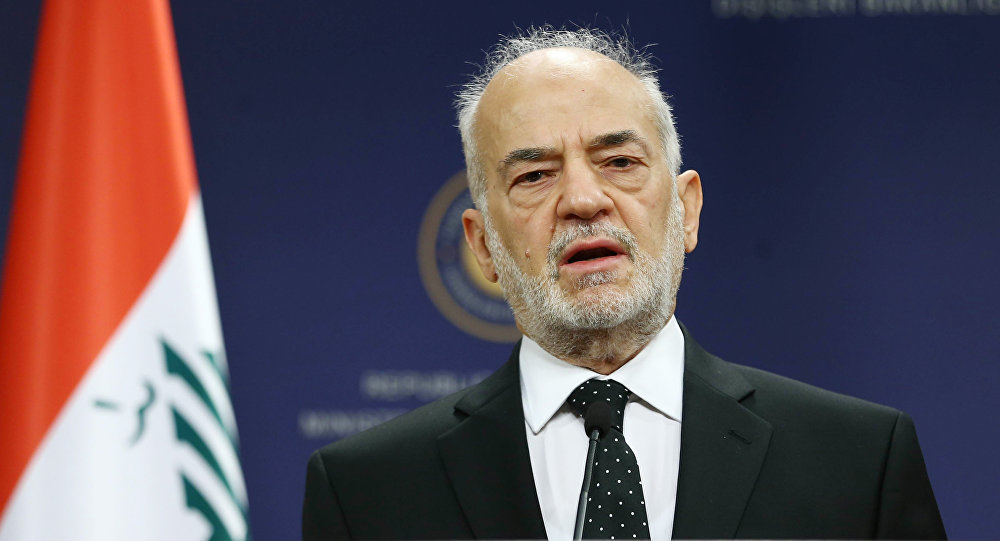 Iraqi Foreign Minister Ibrahim al-Jaafari addresses the media during a press briefing. File photo.