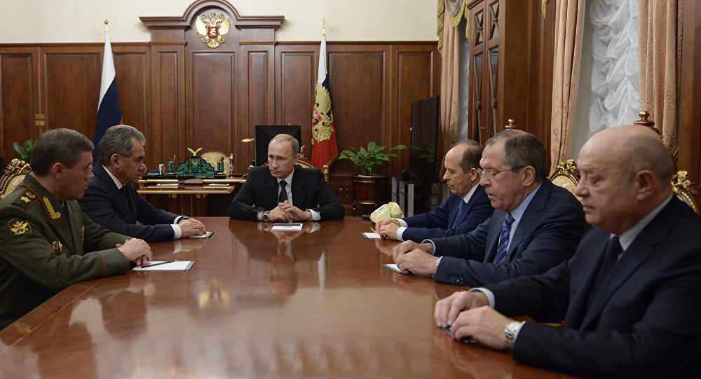 Russian President V. Putin held meeting in the Kremlin