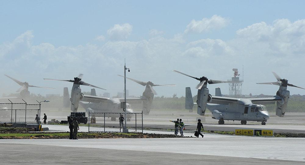 US Marine V-22 Osprey aircraft
