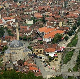 Centre of Prizren, Metohija, region covering the southwestern part of Kosovo
