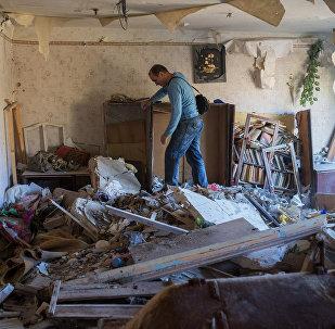 Aftermath of night shelling of Donetsk's Gorlovka by the Ukrainian military