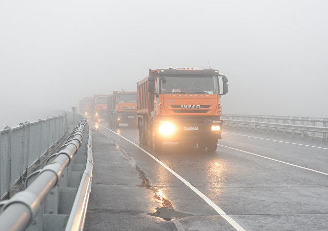 Opening of the bridge in the Leningrad region
