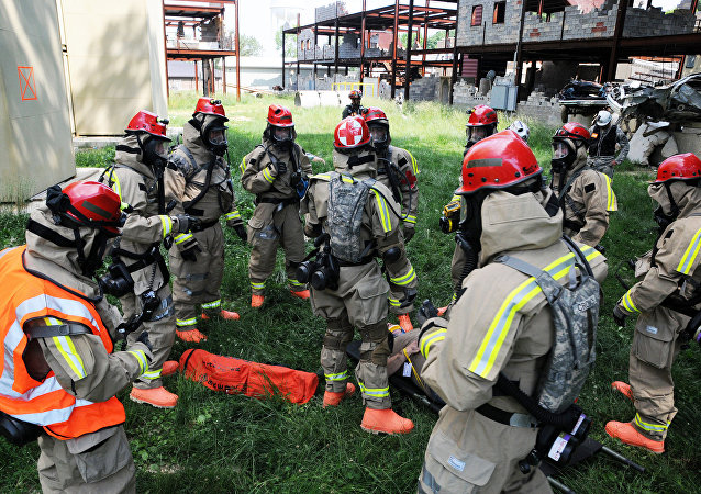 Members of Kentucky Guard's chemical, biological, radiological, and nuclear (CBRN) teams
