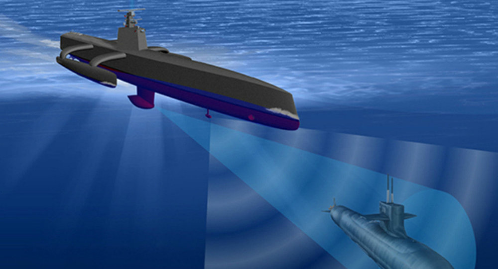 A rendering of the Continuous Trail Unmanned Vessel (ACTUV)