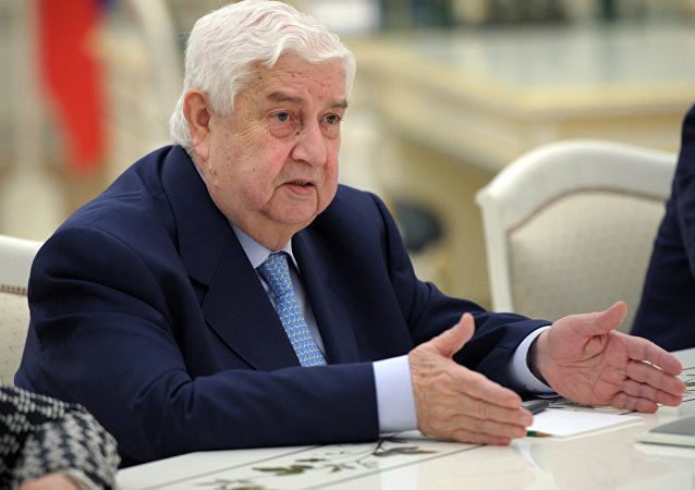 Syrian Foreign Minister Walid Muallem.