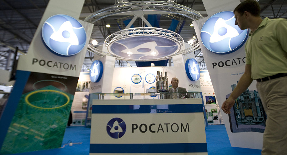 Rosatom state corporation's exhibition stand