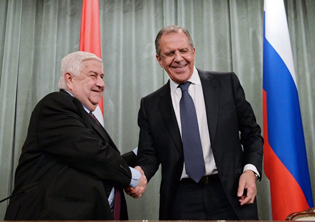 Foreign Minister Sergei Lavrov meets with Syrian Foreign Minister Walid Muallem