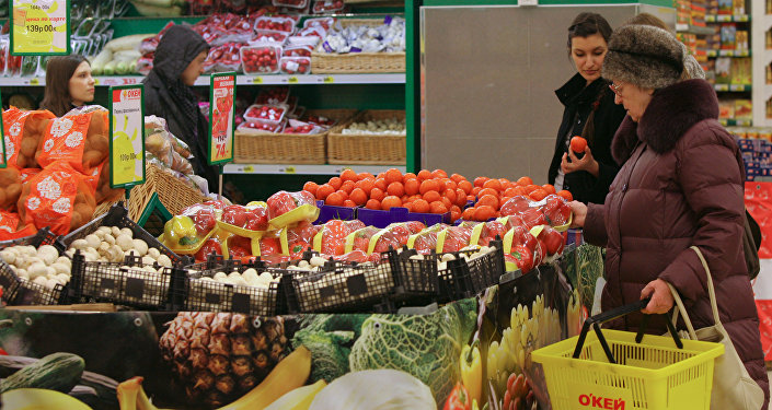 O'KEY hypermarket in Novosibirsk. File photo