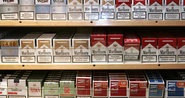 Boxes of cigarettes are seen in a rack in a tobacco shop in Bremen, Thursday, Jan. 17, 2008.