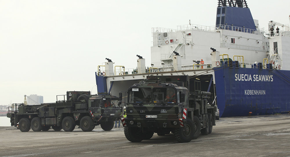 German military trucks carrying NATO's Patriot Missile Defense System to protect Turkey in case neighboring Syria launches an attack leave the port after the parts of system were unloaded in the Mediterranean city of Iskenderun, Turkey, Monday, Jan. 21, 2013