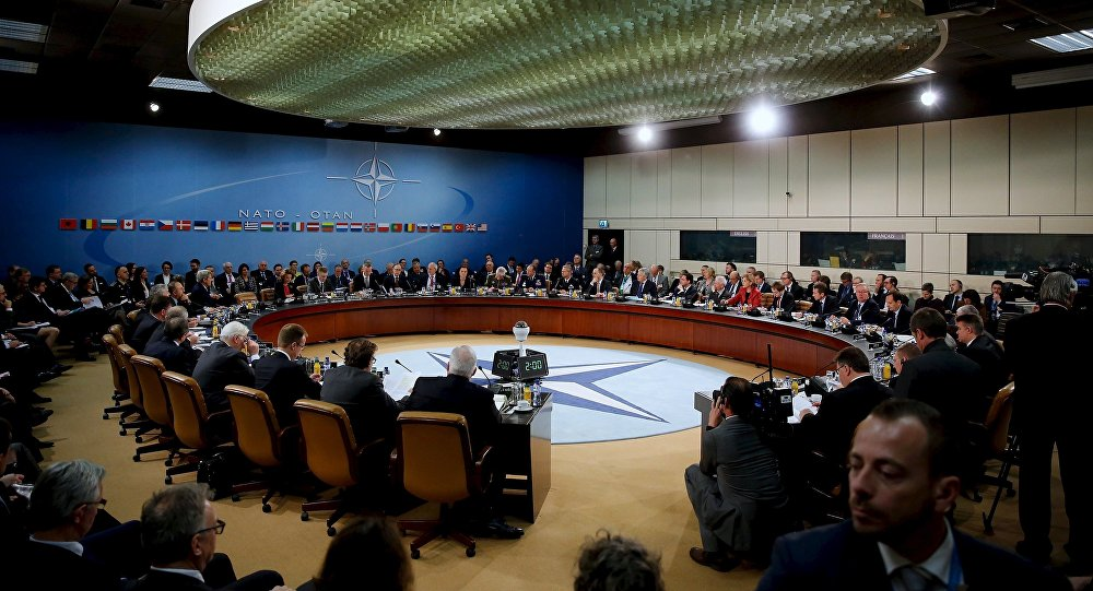 NATO foreign ministers gather for the session to formally admit Montenegro during ministerial meetings at NATO Headquarters in Brussels December 2, 2015