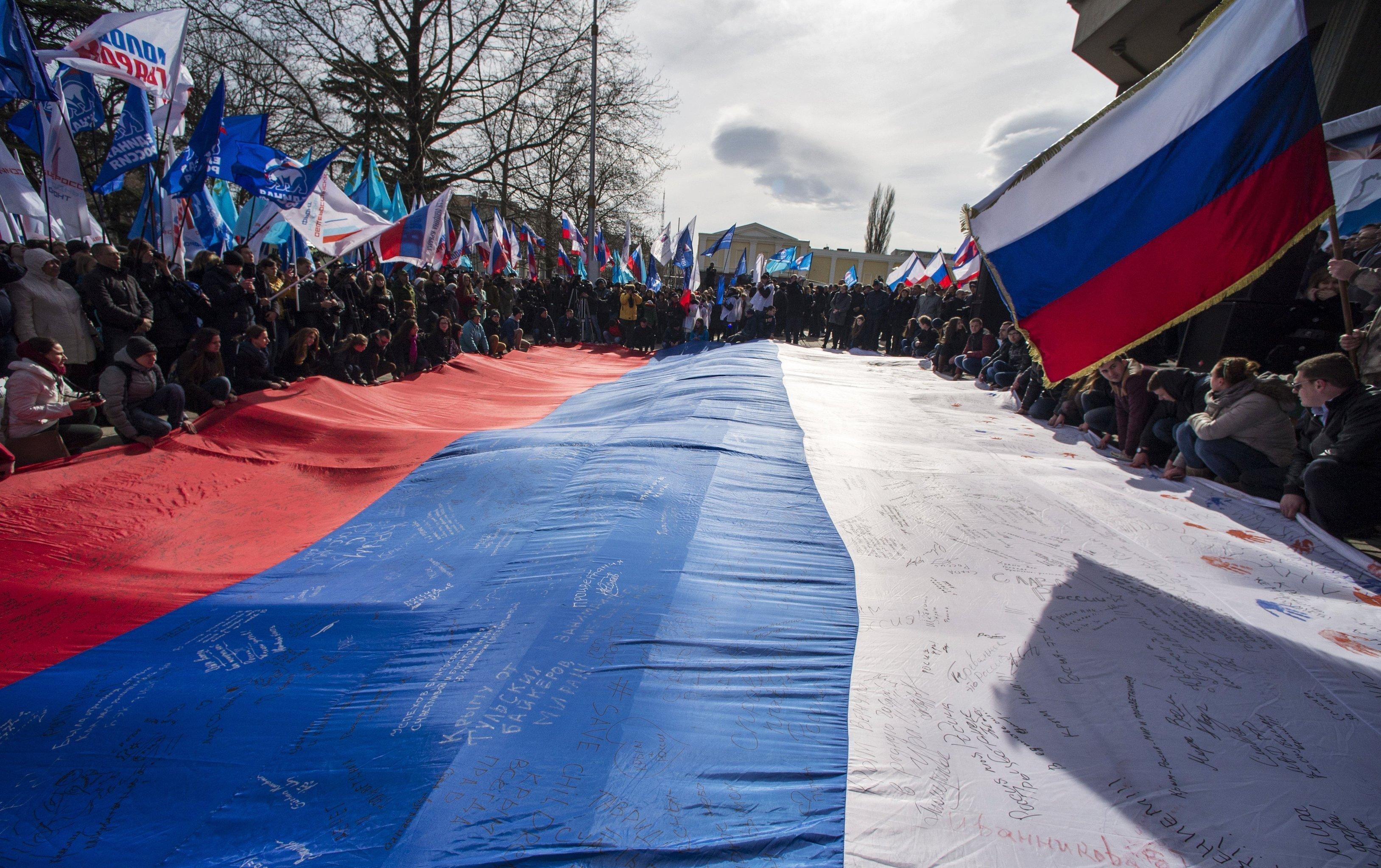 Celebrating Crimean Spring's first anniversary in Simferopol