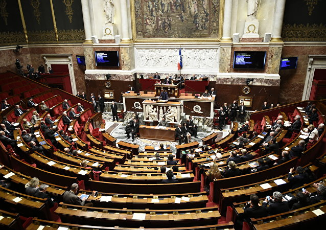 The National Assembly in Paris is seen on November 3, 2015 during a session of questions to the government