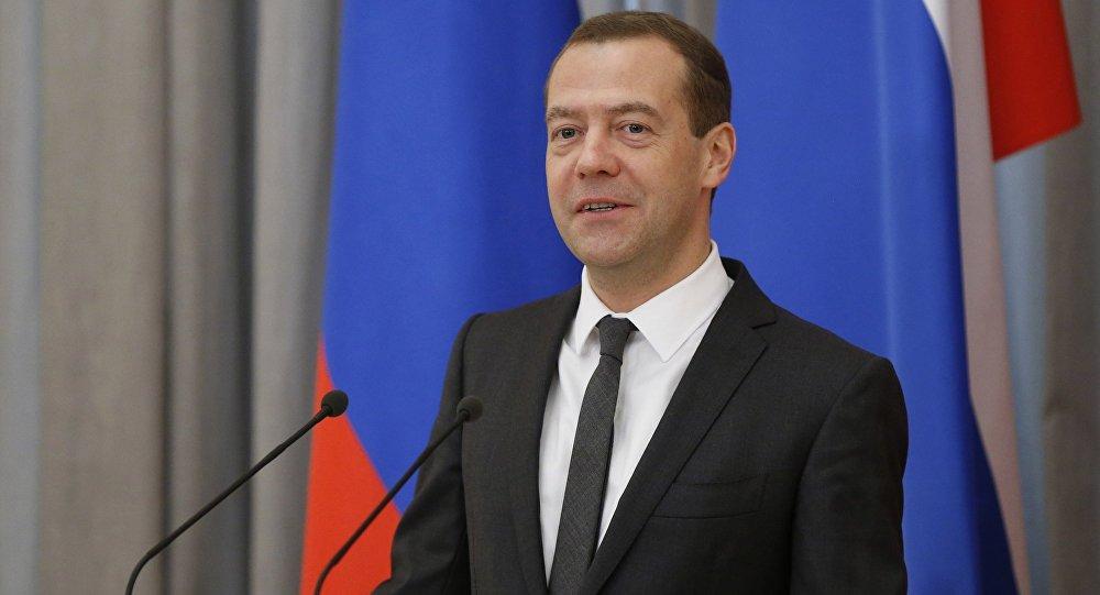 Prime Minister Dmitry Medvedev speaks at government science-technology award ceremony