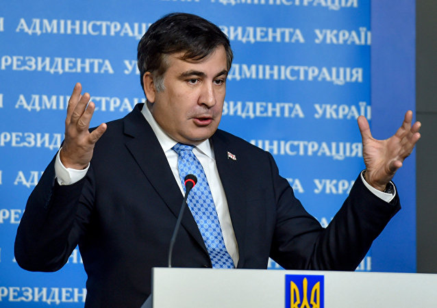 The governor of the Odessa Region and ex-Georgian president Mikheil Saakashvili