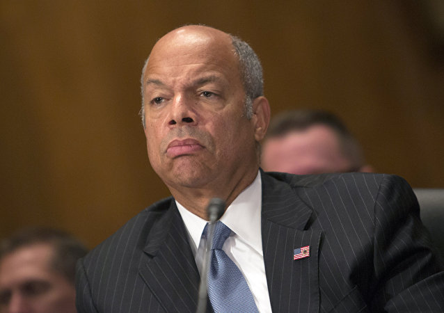 Homeland Security Secretary Jeh Johnson testifes before the Senate Homeland Security and Governmental Affairs Committee for a hearing on threats to the United States in Washington DC, October 8, 2015