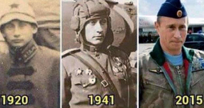 Putin, through the years...