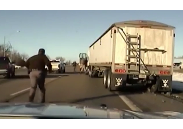 Nebraska Deputy Jumps into Moving Truck on Highway to End Pursuit