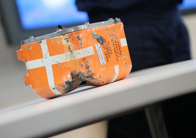 Russian bomber jet's flight data recorder is currently in condition found at crash site.