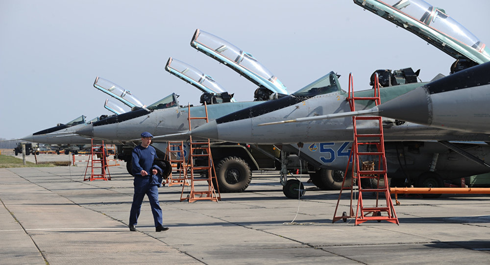 MiG-29 planes in the Southern Military District. File photo