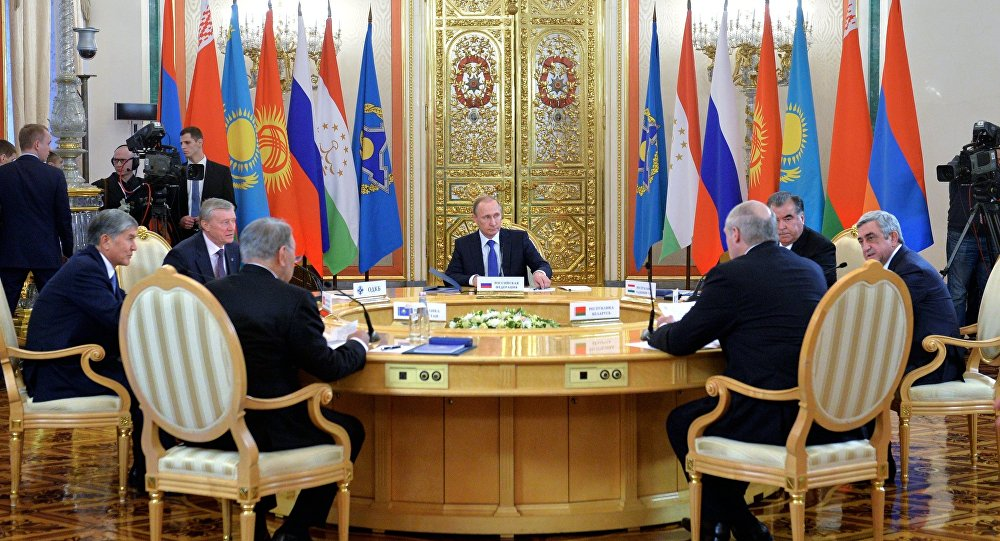 Russian President Vladimir Putin participates in CSTO and Supreme Eurasian Economic Council summits in Moscow.