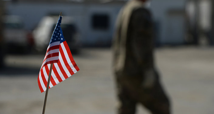 US flag is pictured in Bagram Air Base. (File)