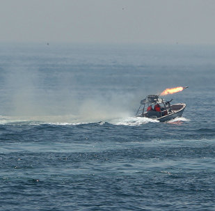 Iran's elite Revolutionary Guard boats attack a naval vessel during a three-day military drill in the Gulf.