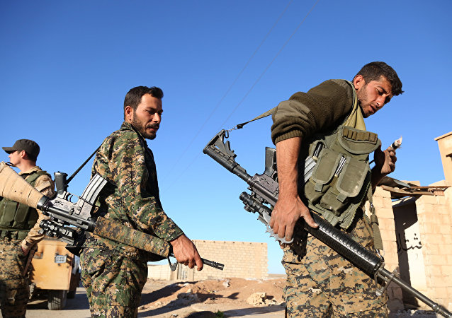 Fighters from the Syrian Democratic Forces