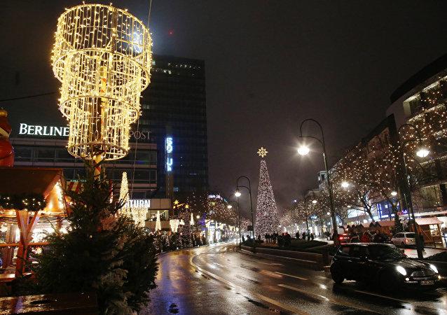 Holiday illumination in Berlin