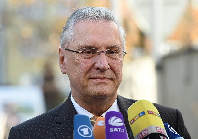 Bavarian Interior Minister Joachim Herrmann is seen upon arrival at a board meeting of the Christian Social Union Party (CSU) in Munich, southern Germany, on November 2, 2015