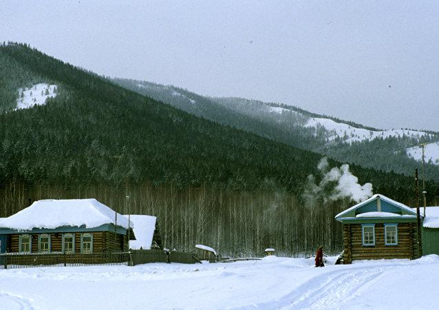Ogonyok tourist camp near Beloretsk town in the Ural mountain range