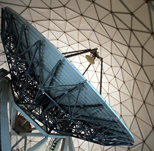 A satellite dish is photographed inside of a receiver, a so-called Radom, at the German Intelligence Agency,BND , facility near the Mangfall barracks in Bad Aibling,, near Munich Germany, Friday June 6, 2014