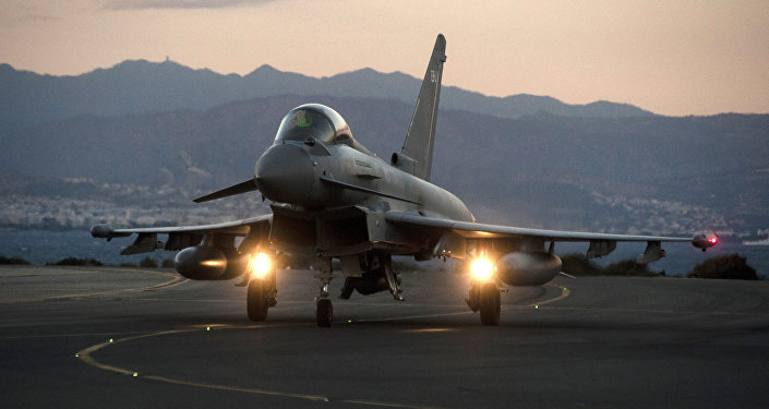 A British Royal Air Force Typhoon fighter jet. File photo