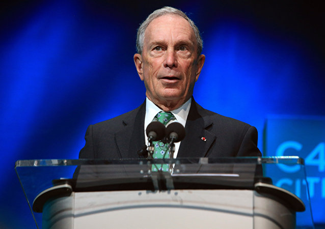 Former New York Mayor Michael Bloomberg speaks during the C40 cities awards ceremony, in Paris