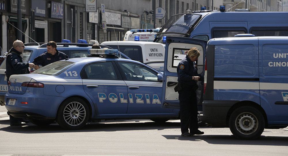 Italian police vehicles. File photo