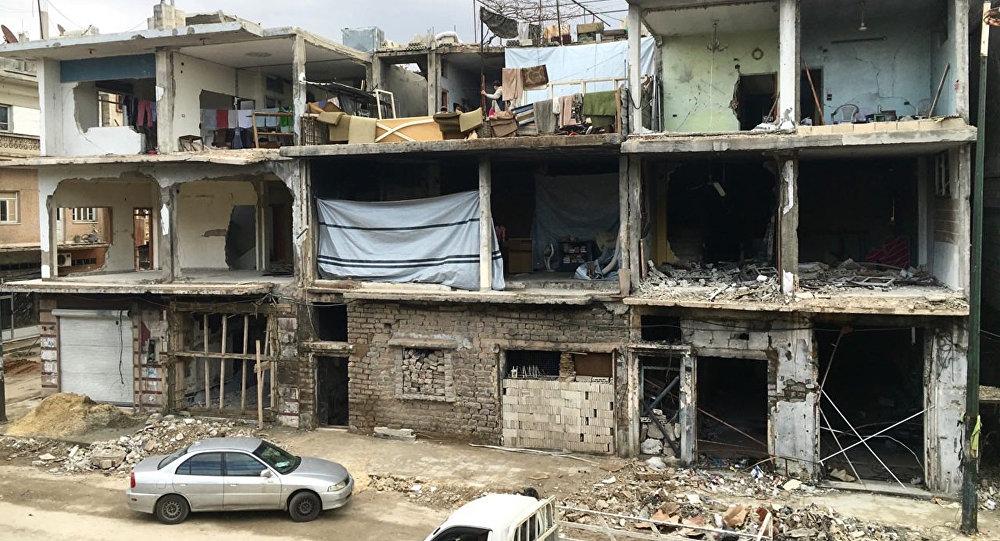Destruction in Homs, Syria