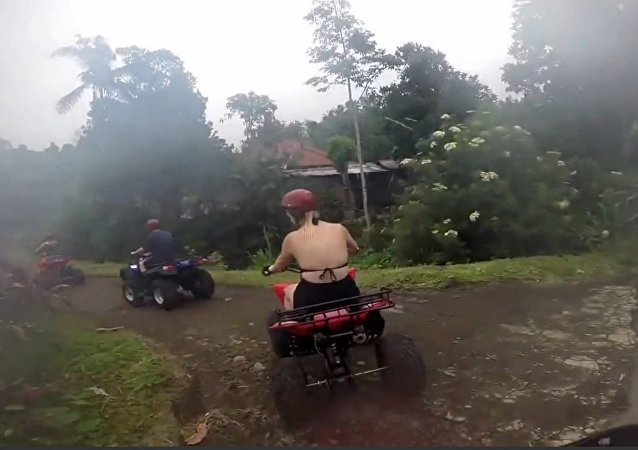 ATV Driver Falls into Ditch