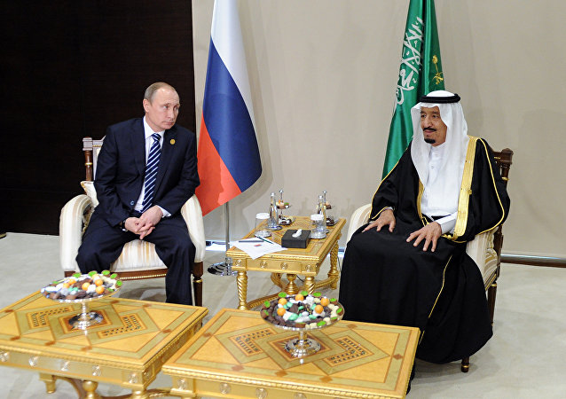 November 16, 2015.Vladimir Putin, left, President of the Russian Federation, with Salman bin Abdulaziz Al Saud, King of Saudi Arabia.