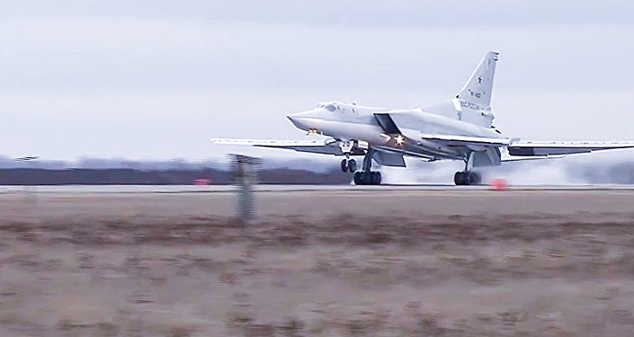 Tupolev Tu-22 M3 strategic bombers hit terrorists in Syria