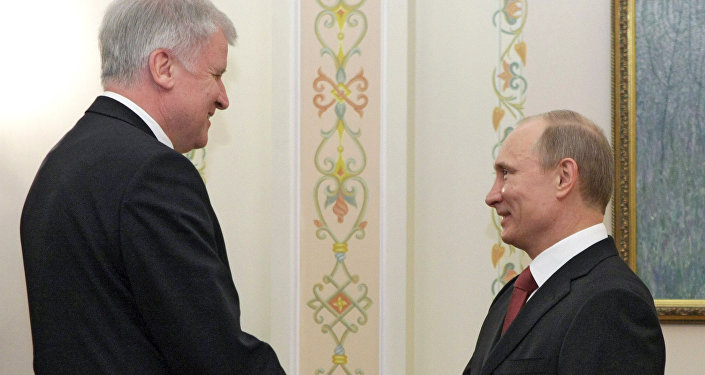 Vladimir Putin meets with  Horst Seehofer