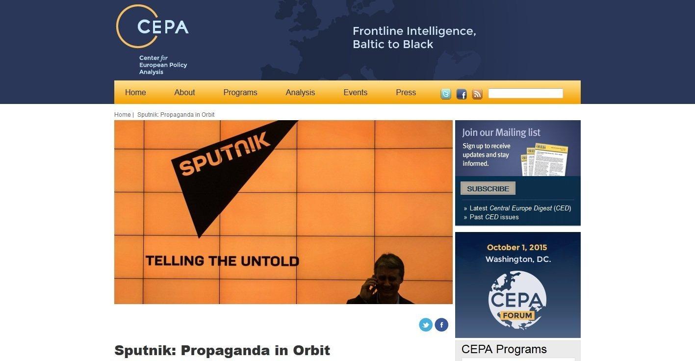 Screenshot from CEPA website.