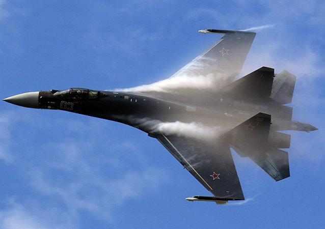 The Su-35 jet fighter