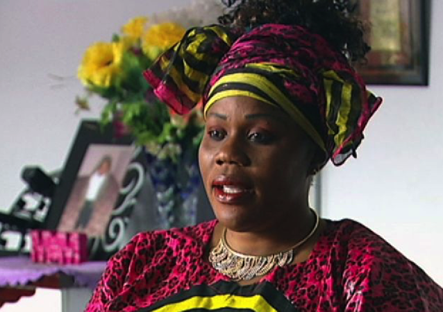 Screenshot of Noela Rukundo from Australian media
