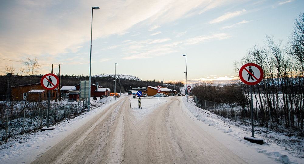 A general view of the Norwegian border crossing station at Storskog on November 12, 2015 near the town of Kirkenes in northern Norway